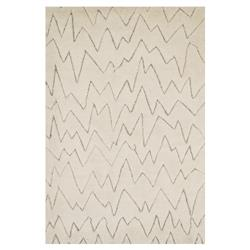 Daia Rustic Ivory Mountain Scape Wool Jute Rug - 4x6 | Kathy Kuo Home