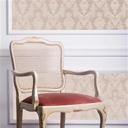 Damask Modern Classic Champagne Pearl Removable Wallpaper | Kathy Kuo Home