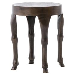 Damia Global Hoofed Rust Outdoor End Table | Kathy Kuo Home
