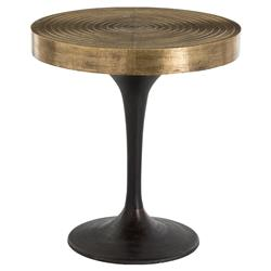 Dante Global Bazaar Brass Ring Bronze End Table | Kathy Kuo Home