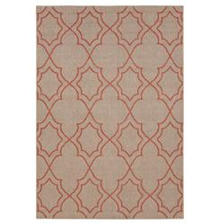 "Daria Fretwork Outdoor Red Taupe Hollywood Regency Rug - 2'3""x4'6"" 