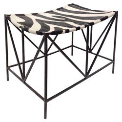 Darius Oly Antique Bronze Zebra Bench | Kathy Kuo Home
