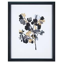 Darius Paper Shadows Hollywood Regency Gold Foil Floral Print | Kathy Kuo Home