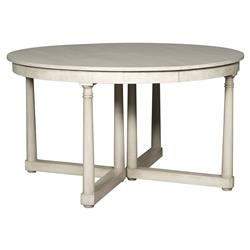 Declan Rustic White Extendable Round Dining Table | Kathy Kuo Home