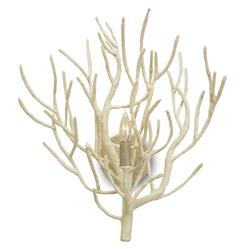 Delray White Coral Coastal Beach Style Sconce | Kathy Kuo Home