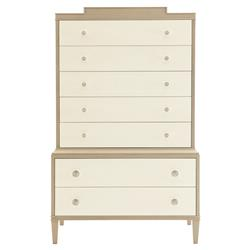Diana Modern Ivory Light Brown Tall Chest | Kathy Kuo Home