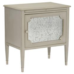 dion country rustic grey antique mirror nightstand kathy kuo home