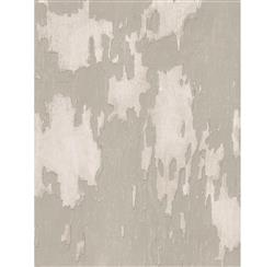 Distressed Plaster Industrial Loft Wallpaper - Linen | Kathy Kuo Home