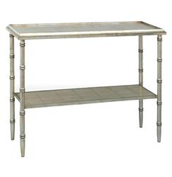 Doheny Hollywood Regency Style Silver Bamboo Console | Kathy Kuo Home