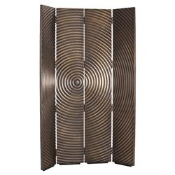 Droplet Modern Classic Brass Wave Floor Screen | Kathy Kuo Home
