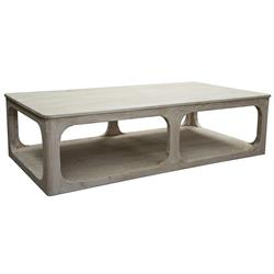 Dubois Rustic Lodge Wash Reclaimed Oak Coffee Table | Kathy Kuo Home