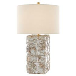 Edson Coastal Beach Capiz Shell Table Lamp | Kathy Kuo Home
