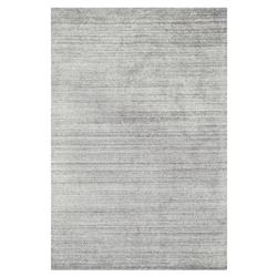 Efra Modern Classic Silver Grey Stria Wool Rug - 9'3x13' | Kathy Kuo Home
