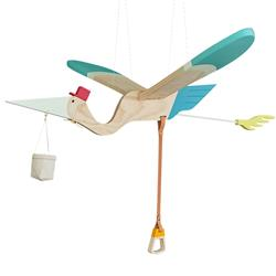 Eguchi Toys Modern Kids Stork Mobile | Kathy Kuo Home