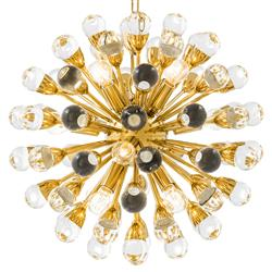 Eichholtz Antares Hollywood Regency Gold Starburst Chandelier - Small | Kathy Kuo Home