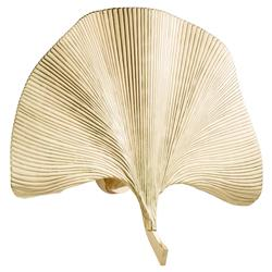 Eichholtz Eula Hollywood Regency Gold Gingko Leaf Wall Sconce | Kathy Kuo Home