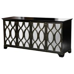 Elisabeth Oly Antique Mirror Brown Buffet | Kathy Kuo Home