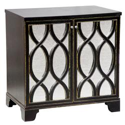 Elisabeth Oly Antique Mirror Brown Nightstand | Kathy Kuo Home