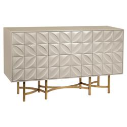 Eloise Hand-Carved Modern Classic Petal Sideboard | Kathy Kuo Home