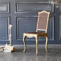 Eloquence Antique French Gilt Side Chair: 1890 | Kathy Kuo Home