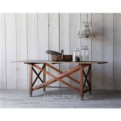 Eloquence Antique French Wood Plank Dining Table | Kathy Kuo Home