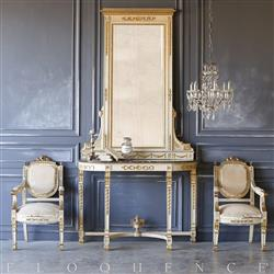 Eloquence® Antique Italian Console with Mirror: 1870 | Kathy Kuo Home