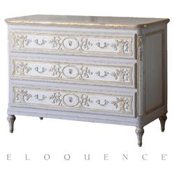 Eloquence® Bronte Commode in Fleur De Lis Gold Leaf | Kathy Kuo Home