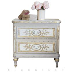 Eloquence® Bronte Nightstand in Fleur De Lis | Kathy Kuo Home