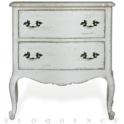 Eloquence® Clementine Nightstand in Antique White | Kathy Kuo Home