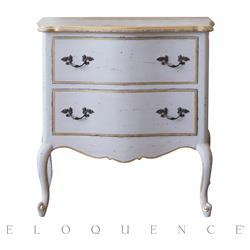 Eloquence® Clementine Nightstand in Gold and Taupe | Kathy Kuo Home