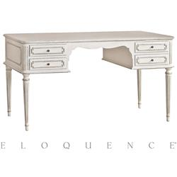 Eloquence® Coco Madame Desk in Silver Highlight | Kathy Kuo Home
