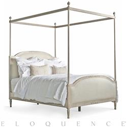 Eloquence® Dauphine Queen Canopy Bed in Beach House Natural | Kathy Kuo Home