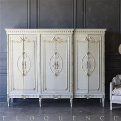 Eloquence® Duck Egg Triple Vintage Armoire: 1940 | Kathy Kuo Home