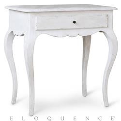 Eloquence Elisabet Nightstand in Fleur de Sel White | Kathy Kuo Home