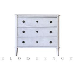 Eloquence® Fleur de Sel White Nicolas Commode Dresser | Kathy Kuo Home