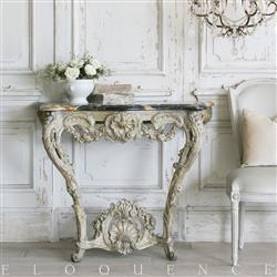 Eloquence French Country Style Antique Iron Console: 1900 | Kathy Kuo Home