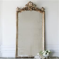 Eloquence French Country Style Antique Mirror: 1880 | Kathy Kuo Home