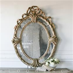 Eloquence French Country Style Antique Oval Mirror: 1880 | Kathy Kuo Home