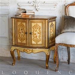 Eloquence French Country Style Antique Side Table | Kathy Kuo Home
