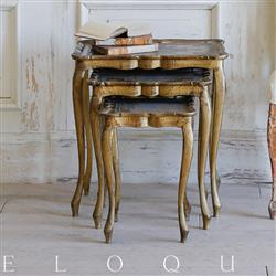 Eloquence French Country Style Antique Side Tables | Kathy Kuo Home