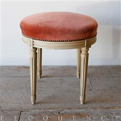 Eloquence French Country Style Antique Stool | Kathy Kuo Home