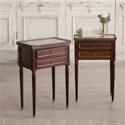Eloquence French Country Style Pair of Antique Nightstands: 1900 | Kathy Kuo Home