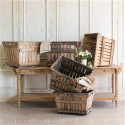 Eloquence French Country Style Vintage Champagne Crates: 1950 | Kathy Kuo Home