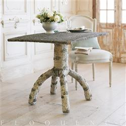 Eloquence French Country Style Vintage Garden Table: 1930 | Kathy Kuo Home
