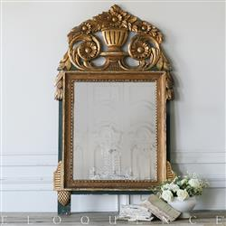 Eloquence French Country Style Vintage Mirror: 1930 | Kathy Kuo Home