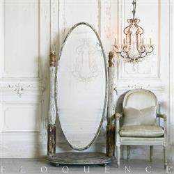 Eloquence French Country Style Vintage Standing Mirror: 1925 | Kathy Kuo Home