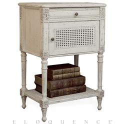 Eloquence® Giverny Nightstand in Antique White | Kathy Kuo Home