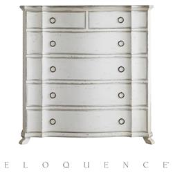 Eloquence® Grande Bordeaux Chest in Silver and Antique White | Kathy Kuo Home