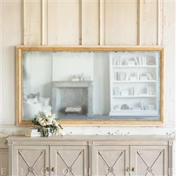 Eloquence® Grande Eugenie Panel Mirror in Toasted Almond | Kathy Kuo Home