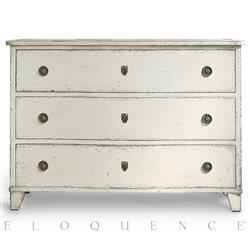 Eloquence Gustavus Commode in Antique White | Kathy Kuo Home